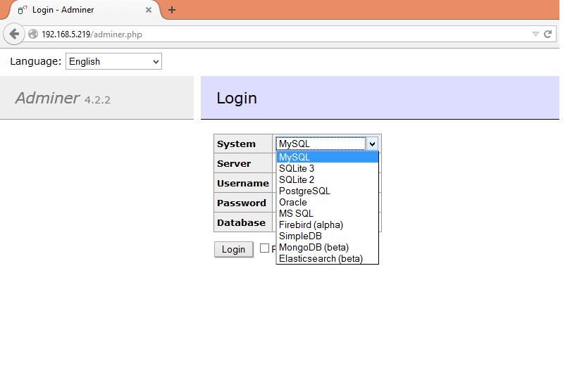 adminer_database