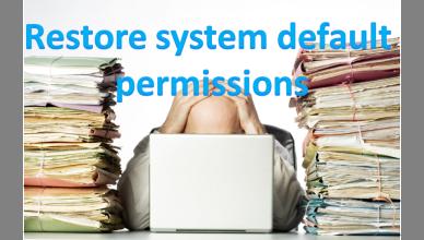 Restore System Default Permissions