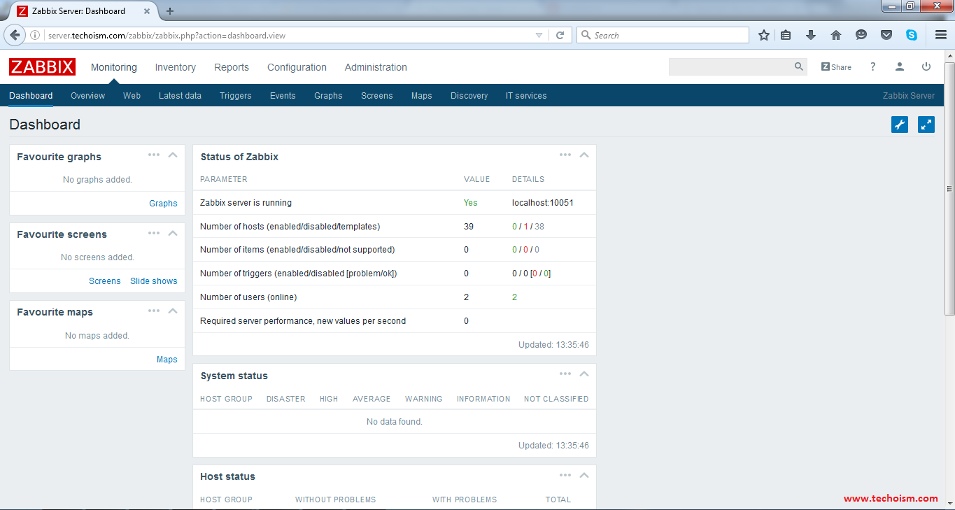 Zabbix_Dashboard