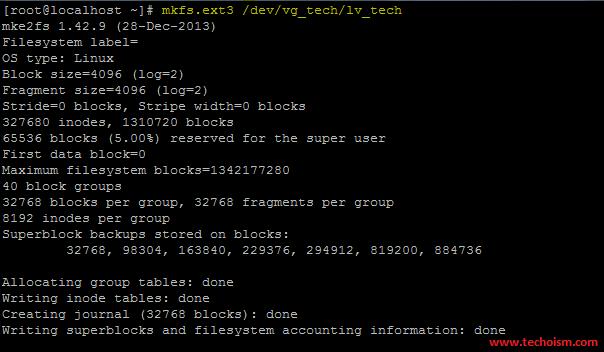 Size Partition Filesystem