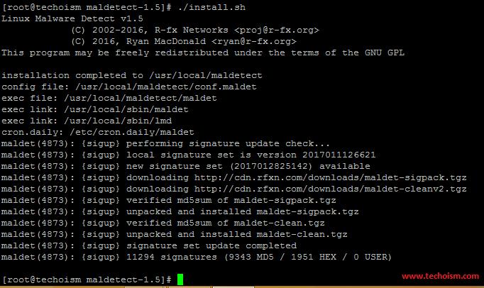 Linux Malware Detect Installation