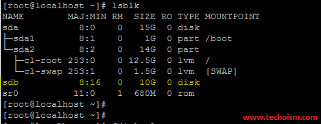 lsblk Output