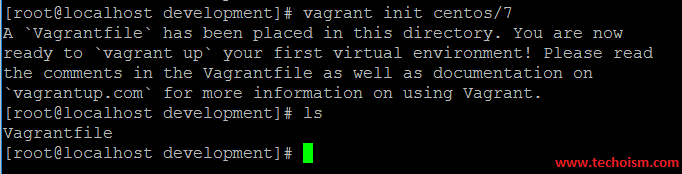 Vagrant Initilization