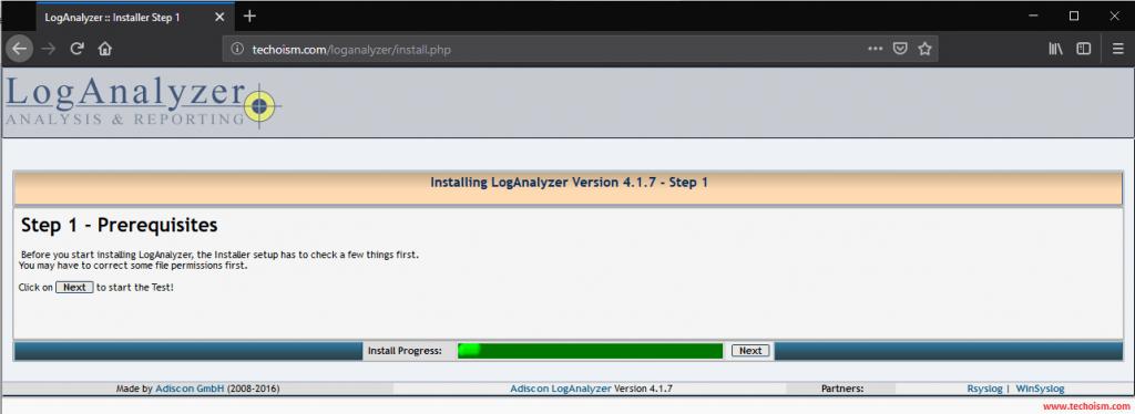 Install LogAnalyzer 1