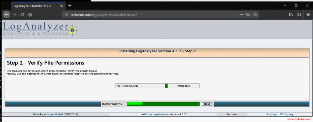 Install LogAnalyzer 2