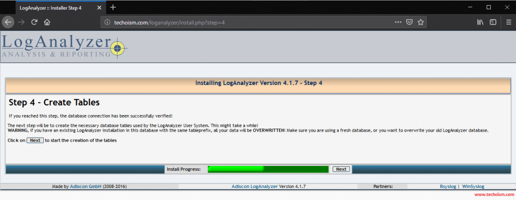Install LogAnalyzer 4