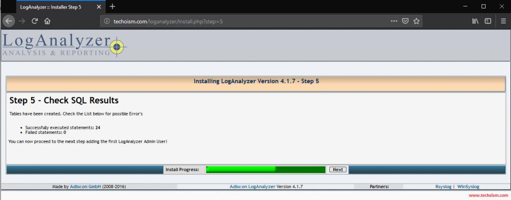 Install LogAnalyzer 5
