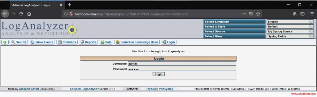 Install LogAnalyzer 9