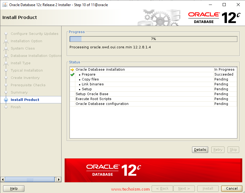 Oracle Install 11