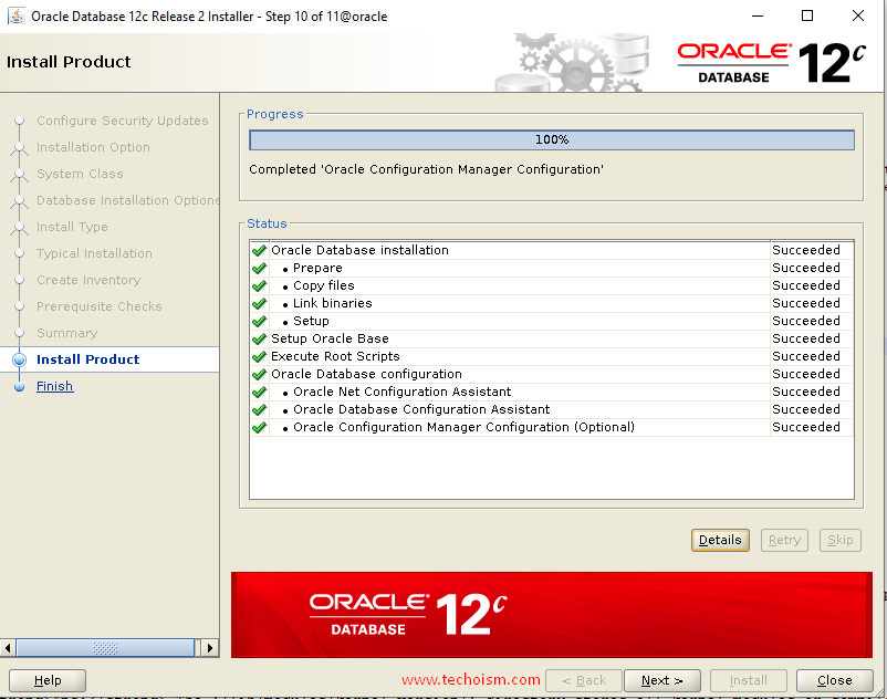 Oracle Install 13