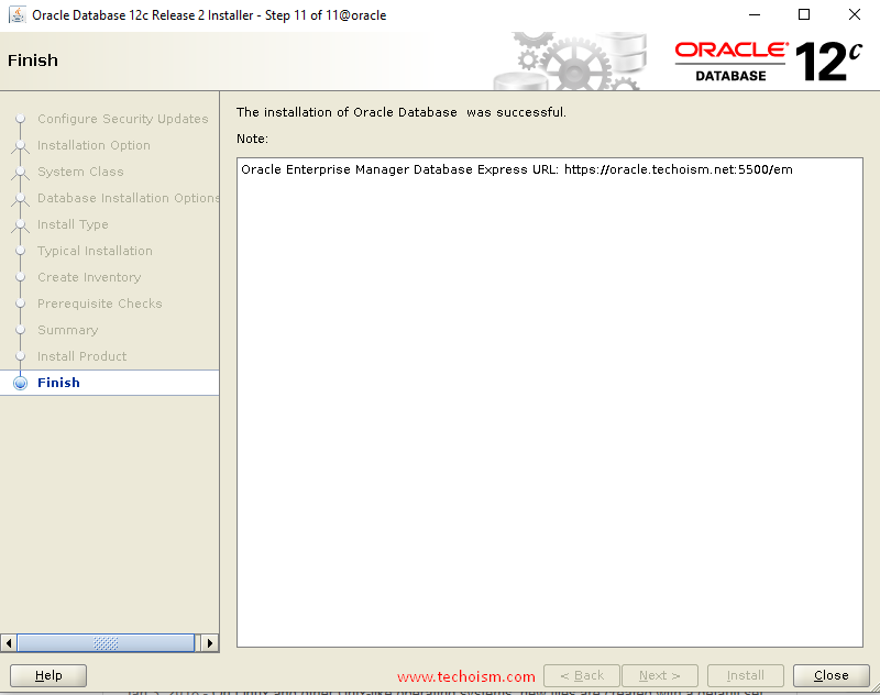 Oracle Install 14