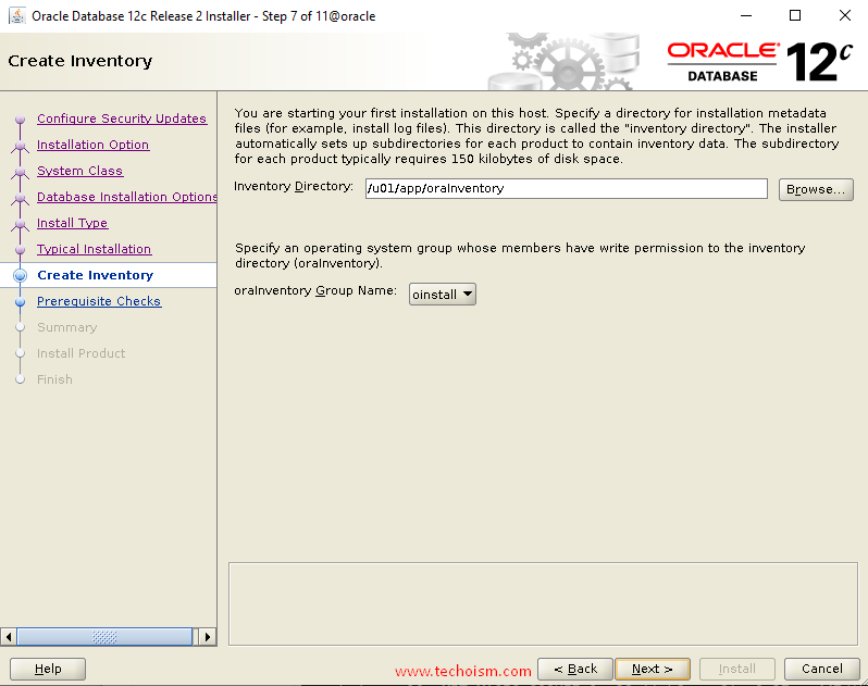 Oracle Install 9