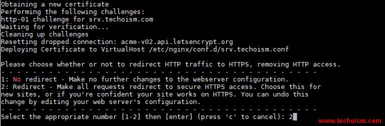 CertBot SSL Install 5