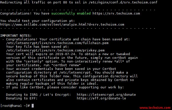 CertBot SSL Install 6